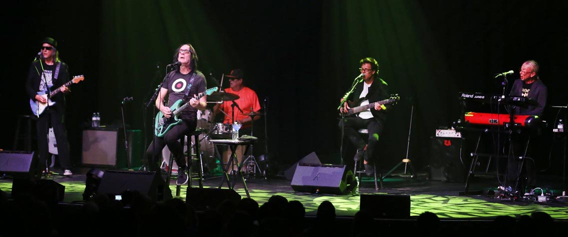 Todd Rundgren and his band on tour